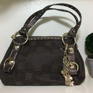 Brand New Kathy Van Zeeland brown & gold purse