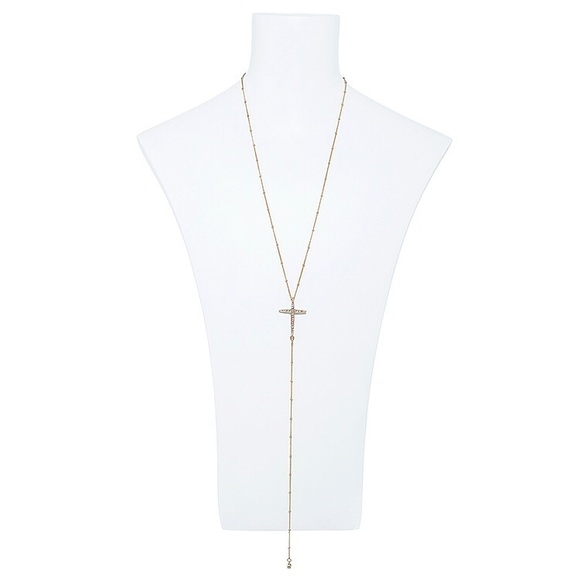 "The Third Day Jewelry - ""Believer"" Trendy Cross Gold Long Necklace"