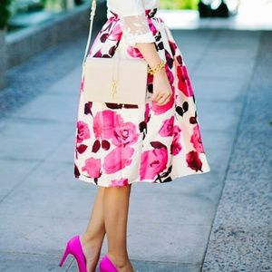 Chicwish Dresses & Skirts - NWT Floral Midi Skirt