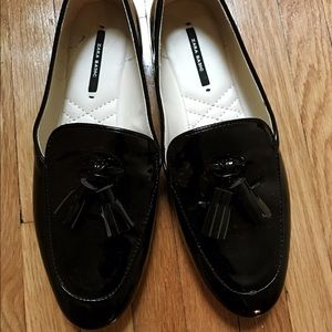 Zara Basic Tassel Loafer Flat (37)