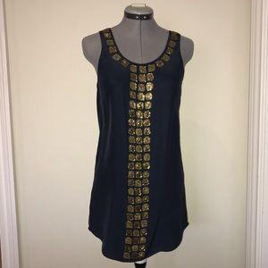 Haute Hippie Dresses & Skirts - Haute Hippie Silk Dress with Gold Embellishments
