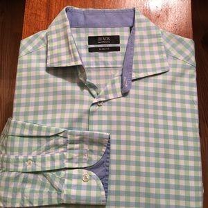 Saks Fifth Avenue Black slim fit shirt