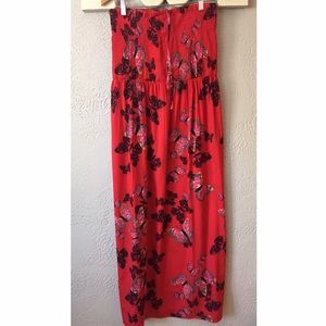 Plus size red maxi dress size 28 by Simply Be