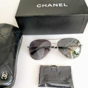 CHANEL 4189TQ Aviator Sunglasses Polarized