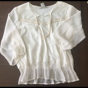 Cream boho blouse American Rag brand