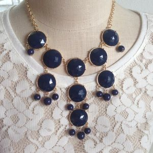 IMAN  Jewelry - Navy Blue Global Chic Glam Statement Necklace/Boho