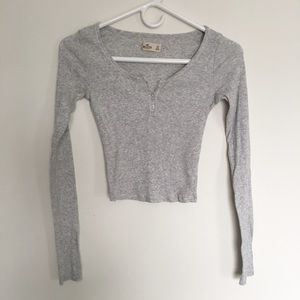Hollister Ribbed Thermal Crop Top