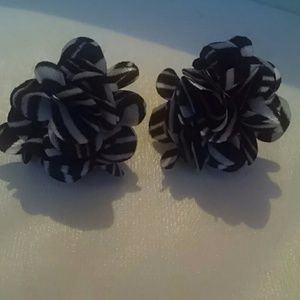 Justice Other - Zebra flower Justice earrings