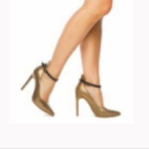 Sophia & Lee Shoes - Sophia & Lee Jordeen heels gold with ankle strap