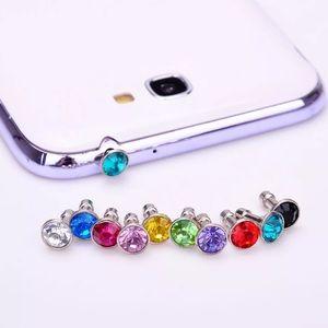 Cell Phone Crystal Rhinestone Dust Headphone Plug