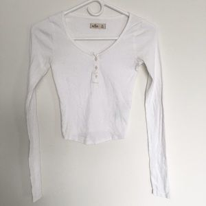 Hollister Ribbed Crop Thermal Top