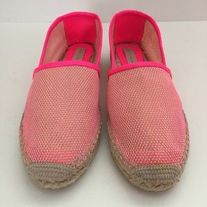 Stella Maternity Shoes - Stella McCartney Neon Pink Espadrilles