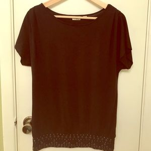 Cato Tops - Women's Large Studded Black Cato Fashion Top ❤