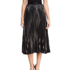 Diane von Furstenberg Dresses & Skirts - DVF Heavyn Metallic Plisse Midi Skirt