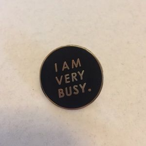 Ban.do pin I am very busy