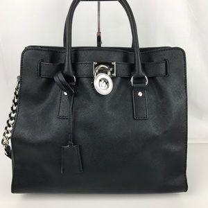 Michael Kors Handbags - Michael Kors Lge Saffiano Leather Hamilton Satchel