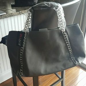 *Final Price*   NWT* JUST FAB GREY & SILVER TOTE.