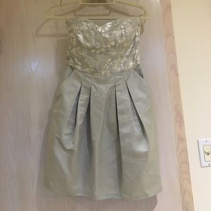 Cynthia Steffe Dresses & Skirts - Gorgeous silver dress with corset top
