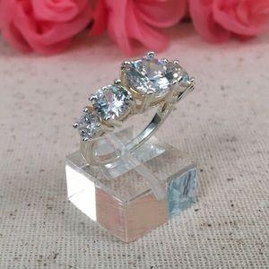 Jewelry - 5 CZ Diamond Stainless Steel Ring