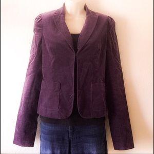 American Vintage Jackets & Blazers - Vintage purple velvet jacket.