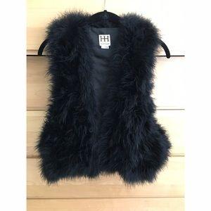 Haute Hippie Jackets & Blazers - Haute Hippie Black Maribou Feather Vest