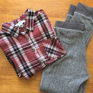 Mia Chica Other - Girls Flannel/Gap Jogger Bundle