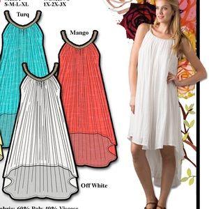 Dresses & Skirts - Coral Hi-low dress