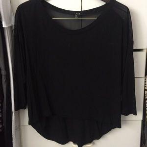 Forever 21 black 3/4 sleeve top