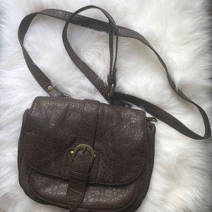Cross body faux leather bag
