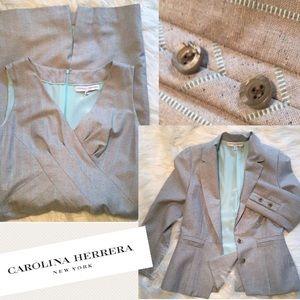 Carolina Herrera Dresses & Skirts - Carolina Herrera Dress Suit robins egg stripe 6
