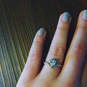 Jewelry - ⚡️Sterling Silver/Aqua Blue Ring⚡️