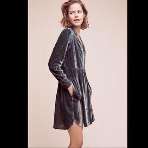 Anthropologie velvet tunic dress