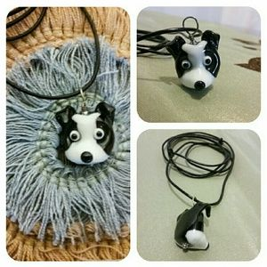 Roxann Slate Jewelry - 🐶 NEW Black & White Puppy Dog Pendant Necklace