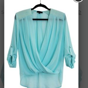 Tops - Mint Green Chiffon blouse