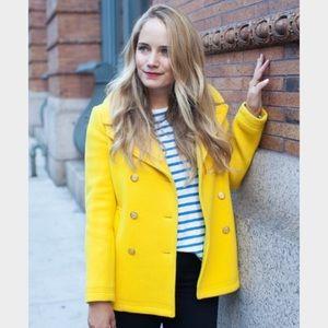 Beautiful J crew yellow pea coat