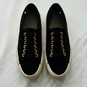 The Row Shoes - SUPERGA x THE ROW black cashmere sneakers