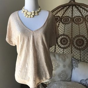 love on a hanger Tops - Sequin V-Neck Top - Small
