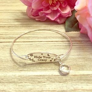 Hide Your Crazy Charm Bangle Bracelet
