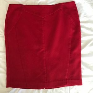 Red Pencil Skirt-size 16