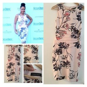 Ivanka Trump Floral-Print Sheath Dress