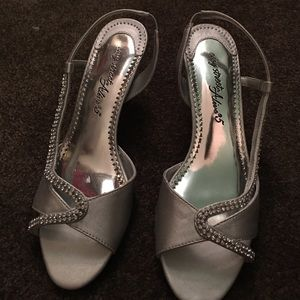Diamond Silver Short Heels