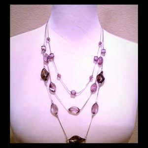 Jewelry - Metallic Charcoal and White Necklace
