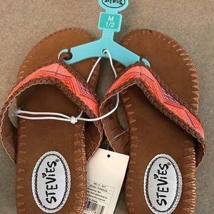 Stevies Other - Stevies girls tribal woven flip flops sandals new