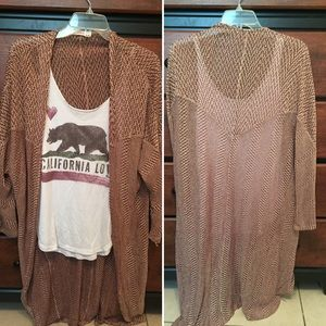 Bohme Sweaters - Maroon/Cream Cardigan from Bohme Boutique