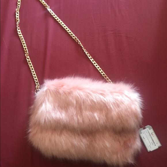 Handbags - Fluffy pink faux fur purse 7eb7eacf37aeb