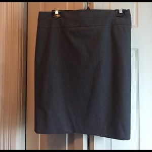 Grey skirt with waist and side detail