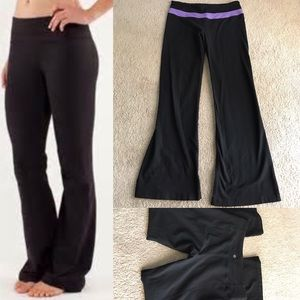 lululemon athletica Pants - Lululemon groove yoga pants vtg black reversible