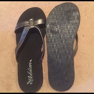 Cobian Shoes - New Cobian pewter flip flops size 8.