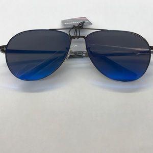 Accessories - Blue Aviator Mirrored Sunglasses