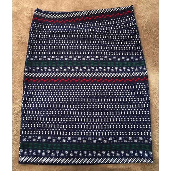 LuLaRoe Skirts - LuLaRoe Cassie Pencil Skirt Stretch 2X